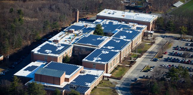 Waltham High School Roof Mounted Pv System